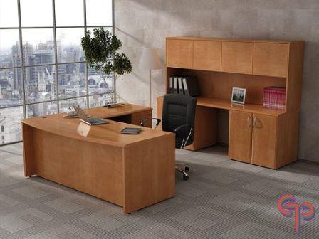 Credenzas Modernas Para Oficina : Escritorio para oficina con conexión derecha en maple natural pear