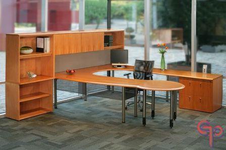 Conjunto de 3 piezas l options for Conjunto muebles oficina