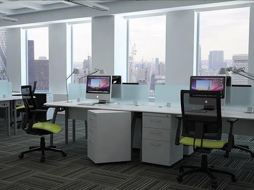 modulo escritorio para oficina en pearl para 4 personas